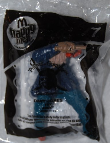 Collectibles Happy Meal (2008 McDonald's Happy Meal Toy Pirates of the Carribean #7 Davy Jones MIP Fast Food Collectible Action Figure by McDonald's)
