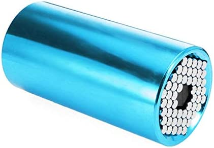SYF-SYF パワーツールアクセサリー、11〜32ミリメートル多機能ラチェットソケットグリップクランプレンジソケットレンチ - ブルードリルチャック スパナ