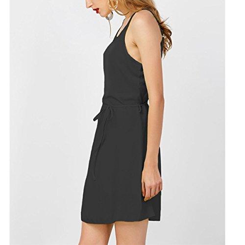 Femme Basique t Robe sans Black Classique Bretelle Robe Fashion r4rq1