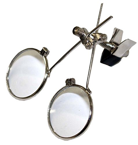 Double Glass Loupe With Clip Attaches To Eyeglass Frames-5X And 10X Power: MG922S-510