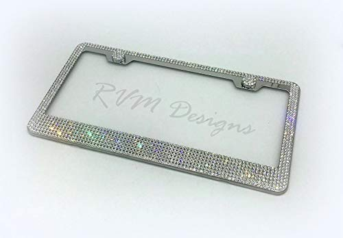 Bling 7 Row License Plate Frame made with Swarovski Crystals - Car Jewelry -  RVMdesigns