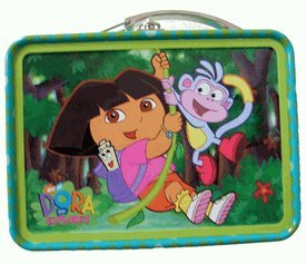 Nickelodeon Green Dora The Explorer Mini Size Tin Box - Miniature Tin Box