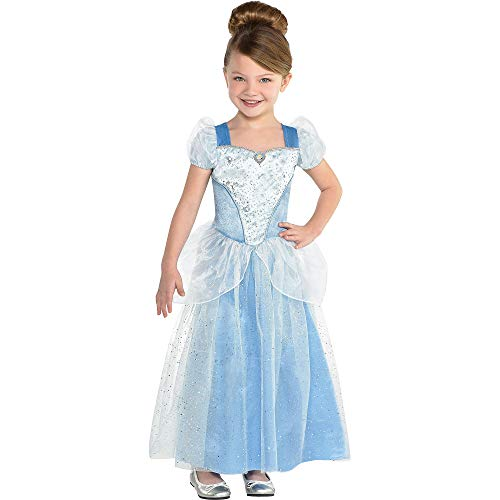 Suit Yourself Classic Cinderella Halloween Costume for Toddler Girls, Cinderella, 3-4T