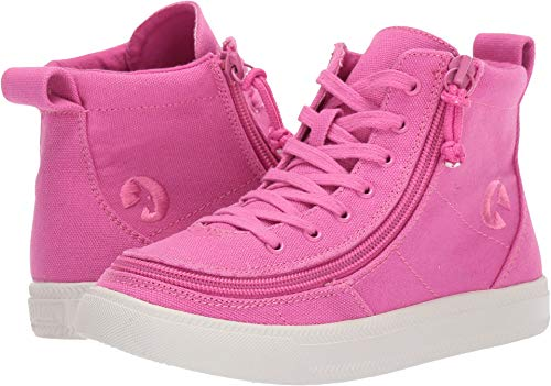 BILLY Footwear Kids Baby Girl's Classic Lace High (Toddler/Little Kid/Big Kid) Pink Raspberry 10 M US Toddler (Shoes High Canvas)