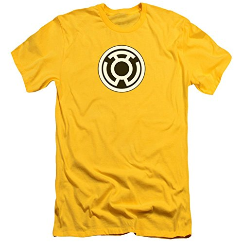 Green Lantern - Sinestro Corps Logo (slim fit) T-Shirt Size (Yellow Lantern T-shirt)
