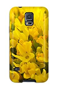 Jonathan Litt's Shop New Style 6087483K59276693 High-quality Durable Protection Case For Galaxy S5(yellow Flowers)