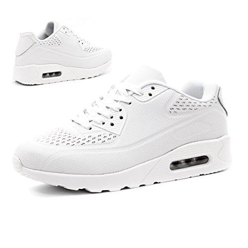 Sneaker Sport Turnschuhe Laufschuhe Trendige All Damen Herren White Kinder Marimo Fitness Schnür Unisex R0wxS