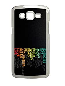 girly cases motivation PC Transparent case/cover for Samsung Galaxy Grand 2/7106