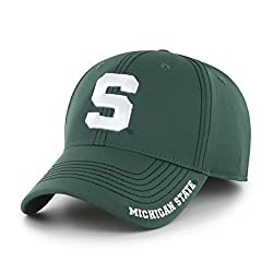 OTS NCAA Michigan State Spartans Men's Start Line Center Stretch Fit Hat, Team Color, Large/X-Large