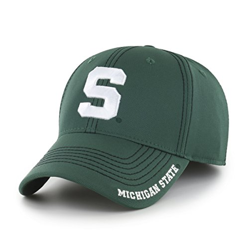 NCAA Michigan State Spartans Adult Start Line Ots Center Stretch Fit Hat, Large/X-Large, Dark Green