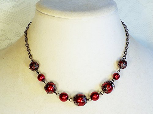 cynthia-lynn-finishing-touch-jet-hematite-tone-red-faux-pearl-necklace