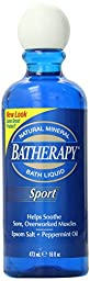 Queen Helene Batherapy Mineral Bath Liquid, Sport, 16 Ounce (Pack of 6) [Packaging May Vary]