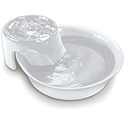 White Circulating Drinking Water Ceramic Fountain for Pet