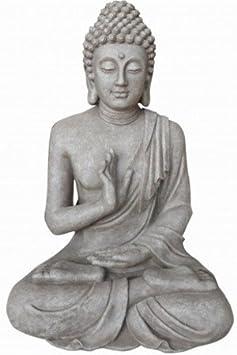 Justice Buddha black rain and frost resistant 40 cm Stone-Lite Figurine