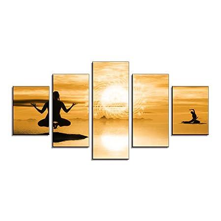 GLORIOUS.YY Cuadros De Salon, Yoga India Hermosa Mujer ...