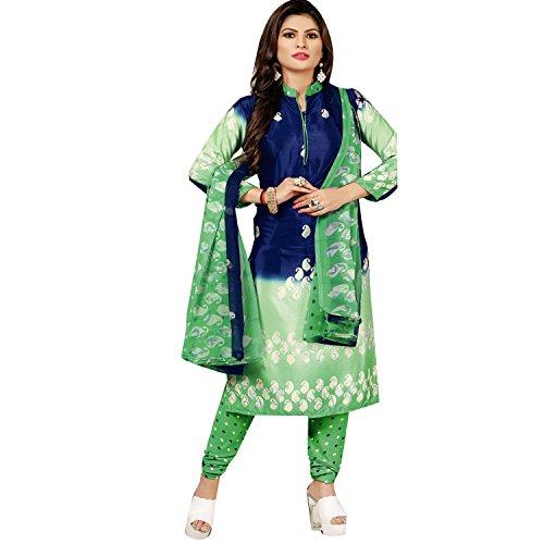 Ladyline Readymade Faux Crepe Silk Printed Salwar Kameez Casual Womens Indian Dress Pakistani Suit