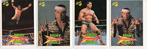 (Jimmy Superfly Snuka Classic WWF Collectors Wrestling Trading Card Lot WWE)