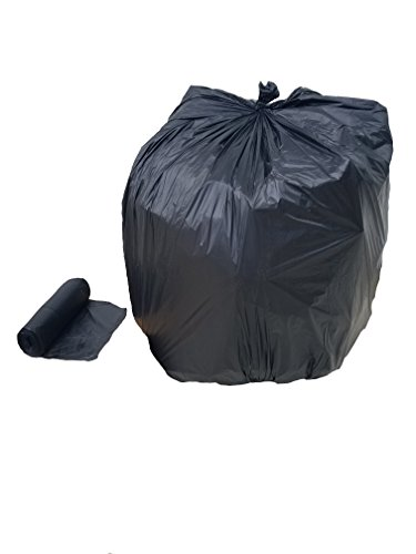 TLD-55XHBR, 55 Gallon Brute, 50/roll Extra Heavy Liner Bags, 1.2 Mil, Low Density, Flat Bottom, Black, 40x49 inches, MADE IN USA Gallon Extra Heavy Liner