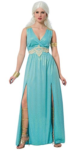 Women's Mythical Goddess Costume, Small, Blue (Queens Gown Adult Costume)