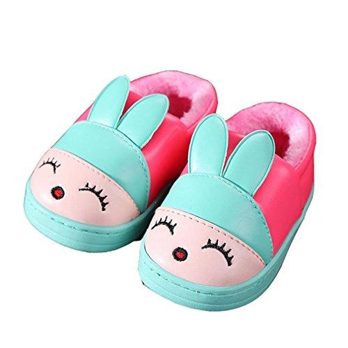 CYBLING Winter Warm Soft Soled Non-slip Toddler Little Boys Girls Cartoon Home Slippers