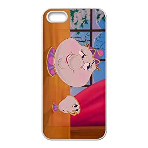 iPhone 4 4s Cell Phone Case White Disney Beauty and the Beast Character Chip Potts Generic Phone Case For Girls CZOIEQWMXN31977