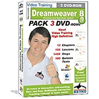 Adobe Dreamweaver 8 Tutorial Training in 3 DVDs By Keyko