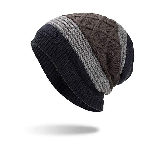 NRUTUP Warm Oversized Chunky Soft Oversized Cable Knit Slouchy Beanie, Deals!(Navy,Free Size) from NRUTUP
