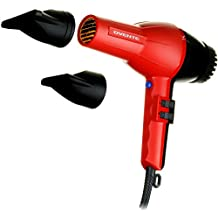 Ovente Seductive Ceramic Ionic Tourmaline Lightweight Professional Hair Dryer with 2 Concentrator Nozzles, 2200-Watts, 2 Speed 3 Heat Settings, Cool Shot Button, Red (3600)