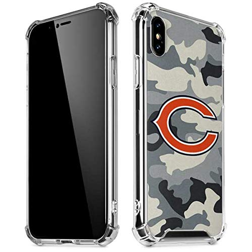 free shipping 68a02 dff8a Amazon.com: Skinit Chicago Bears Camo iPhone XR Clear Case ...