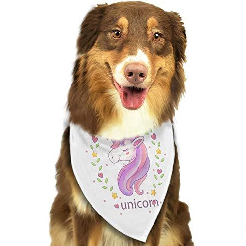 Pet Scarf Dog Bandana Bibs Triangle Head Scarfs Unicorn Horse Accessories for Cats Baby Puppy]()