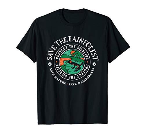 (Save The Rainforest Tee Shirt - Rainforest Tree Frog Shirt)