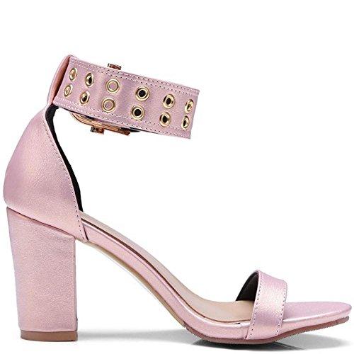Bout Pink Taoffen 2 Sandales Ouvert Femmes Classique qxHHERF