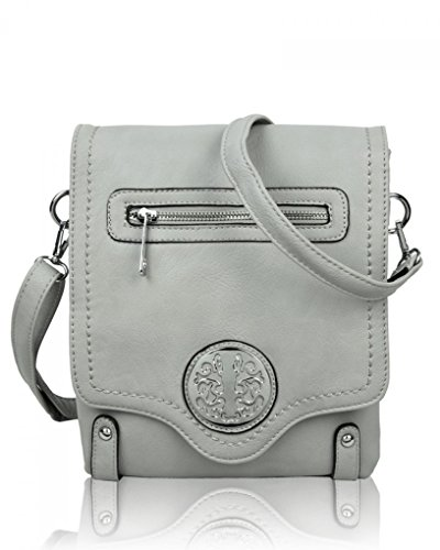 Body LeahWard Shoulder Women's Bags Handbags Grey Leather 945 For Holiday For Quality Faux Cross Bag Women Small qptrCxwpfS