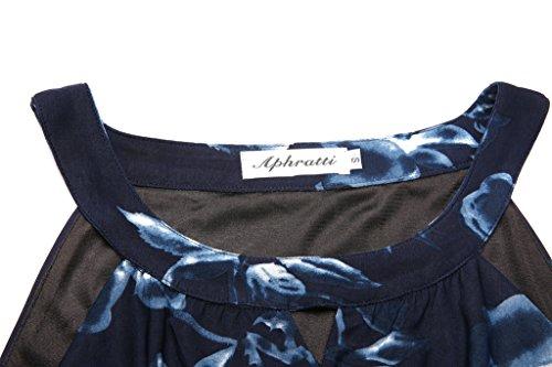 La Marine Sans Manches Des Femmes Aphratti Licol Bohème Longue Robe Maxi Plage