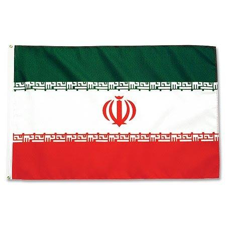 Bandera de irán de tamaño grande, nailon,  - Rot / Grün, talla única