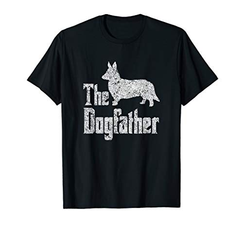 The Dogfather T-Shirt Cardigan Welsh Corgi funny dog for sale  Delivered anywhere in USA