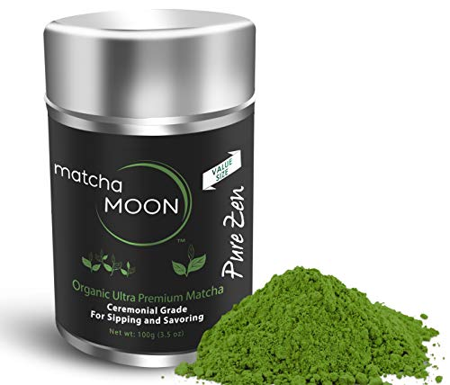 Matcha Moon - Organic Ceremonial Grade Japanese Matcha Green Tea Powder from Uji Kyoto Japan - Authentic, Premium, USDA Certified - Best For Traditionally Whisked Tea - Pure Zen - Value Size 100g Tin by Matcha Moon (Image #8)