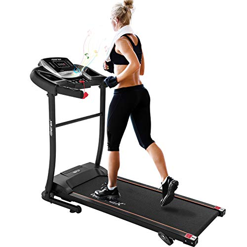 Merax Electric Folding Treadmill – Easy Assembly Fitness Motorized Running Jogging Machine with Speakers for Home Use…