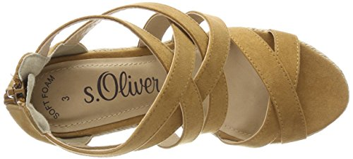 Sandals S oliver Flatform nut 28311 Women's Brown wUx8vqOBn