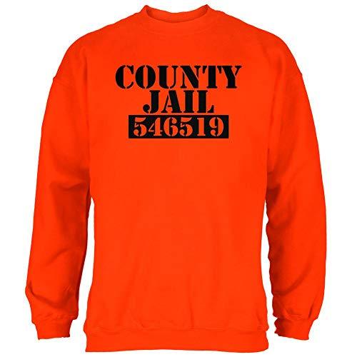 Halloween County Jail Inmate Costume Mens Sweatshirt Orange -
