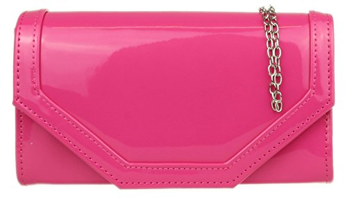 Fucsia Handbags mano Mujer Girly de Cartera Owq1vS