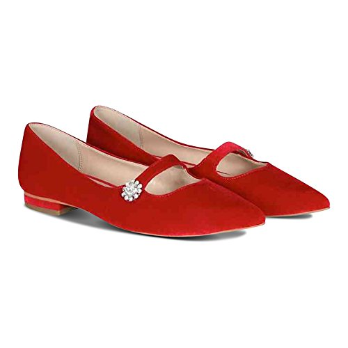 Velvet Donna Outlet Sandali Rosso Red 5 36 London The YAqTRtx