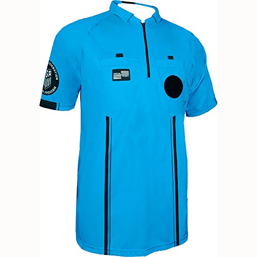 - New USSF Men's Pro Soccer Referee Blue SS Shirt (Large Blue)