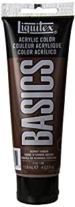 Liquitex BASICS Acrylic Paint 4-oz tube, Burnt Umber