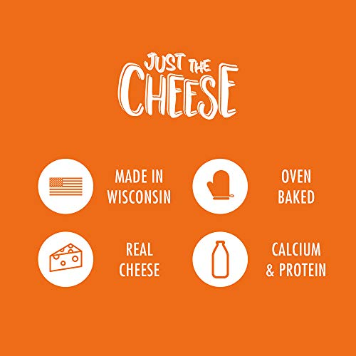 Just the Cheese Bars 10-pack, Crunchy Baked Low Carb Snack Bars. 100% Natural Cheese. High Protein and Gluten Free (Aged Cheddar) 3