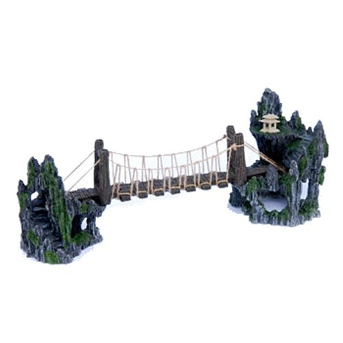 Penn Plax Troll Bridge, Aquarium Design ()