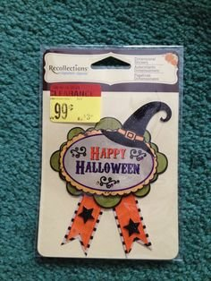 Recollections Happy Halloween Dimensional Embellishment Sticker -