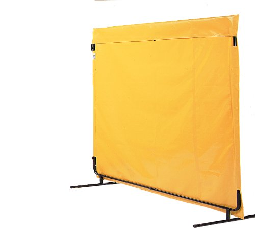 Portable Furniture Partition (Singer Safety Yellow Vinyl Laminate Portable Safety Screen, 6' Width x 6' Height)