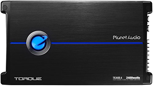 Planet Audio TR2400.4 Torque 2400 Watt, 4 Channel, 2 to 8 Ohm Stable Class A/B, Full Range, Bridgeable, MOSFET Car Amplifier with Remote Subwoofer Control