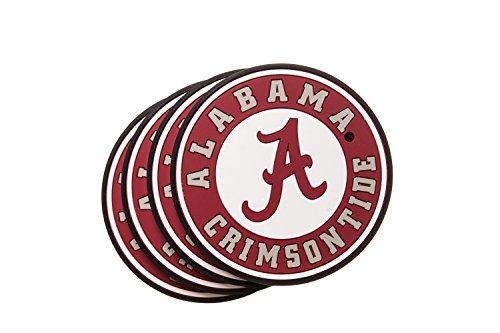 ALABAMA CRIMSON TIDE 4-Pack NCAA PVC (Alabama Crimson Tide Coaster)
